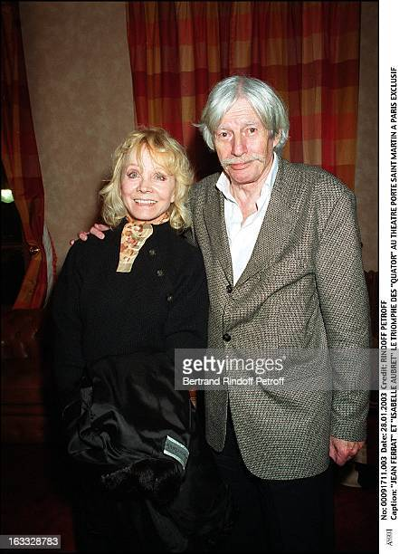 Jean Ferrat and 'Isabelle Aubret' the success of 'Quartets' at the theater Porte Saint Martin in Paris