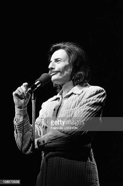 Jean Ferrat in concert in Reims France in December 1974