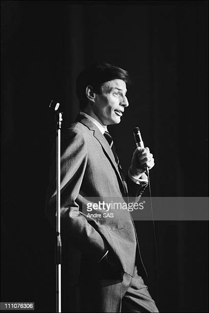 Jean Ferrat on stage in Paris France in 1966