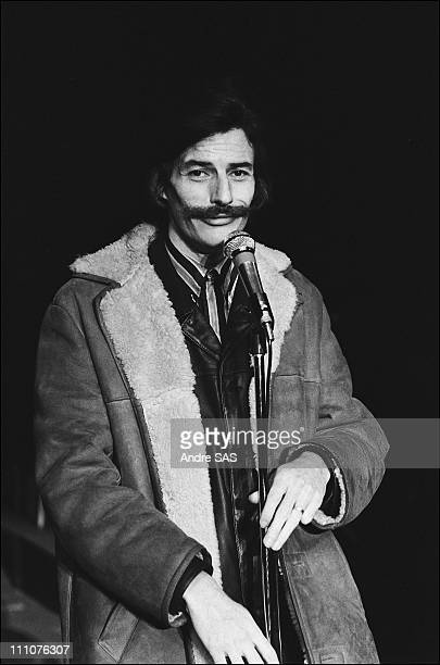 Jean Ferrat on stage in Paris France in 1970