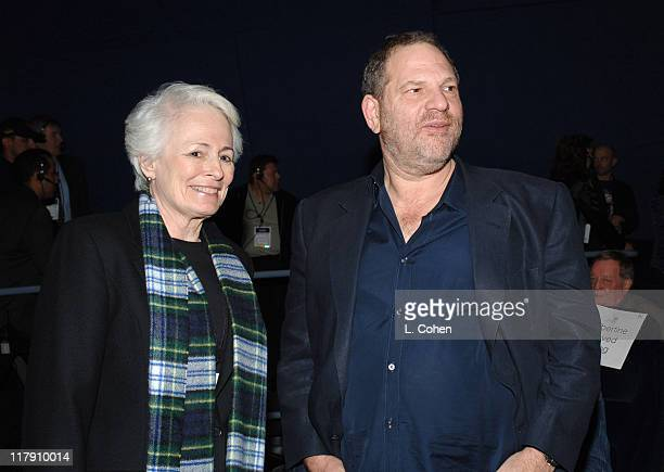 Jean Firstenberg and Harvey Weinstein during AFI Fest 2005 Tribute to Johnny Depp at Audi Pavilion in Los Angeles California United States