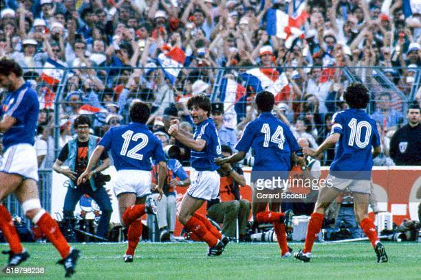 Jean Francois Domergue of France during the Semi Final Football European Championship between France and Portugal Marseille France on 23 June 1984