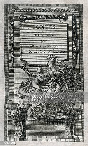 Jean Francois Marmontel French writer and historian Moral Tales Title cover Edition printed in Liege 1777 Library of Catalonia Barcelona Spain