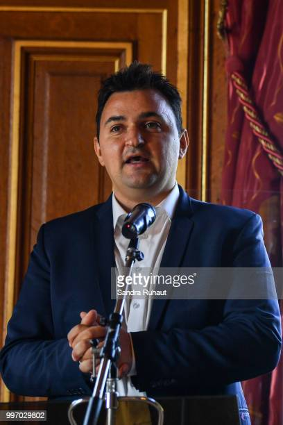 Jean Francois Martins deputy mayor of Paris in charge of sport during the press conference of Paris Basket Avenir on July 12 2018 in Paris France