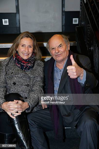 Jean Francois Stevenin and his wife Claire attend the Laurent Gerra One Man Show at L'Olympia on December 19 2015 in Paris France