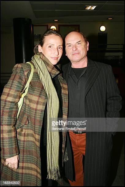 Jean Francois Stevenin and wife Claire at Laurent Gerra Hosts The Television Show Flingue La Tele at L' Olympia