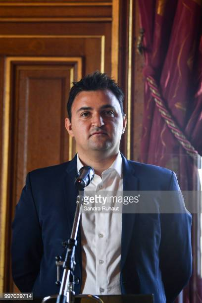 Jean François Martins deputy mayor of Paris in charge of sport during the press conference of Paris Basket Avenir on July 12 2018 in Paris France