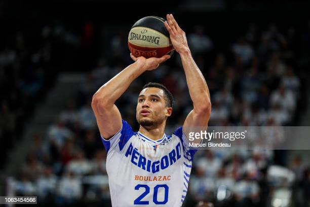 Jean Frederic Morency of Boulazac during the Jeep Elite match between Boulazac Basket Dordogne v JL Bourg en Bresse on November 17 2018 in Boulazac...