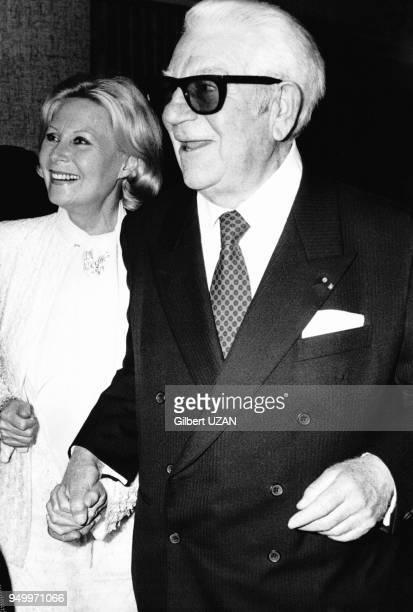 Jean Gabin et Michèle Morgan à la cérémonie des César le 3 avril 1976 à Paris, France.