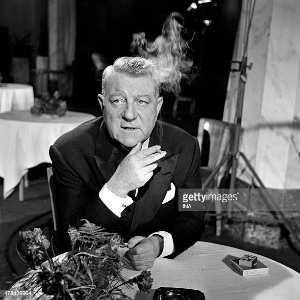 """Jean Gabin interviewed in """"""""Cinepanorama"""""""" on the shooting of the movie """"""""underground Melody"""""""""""