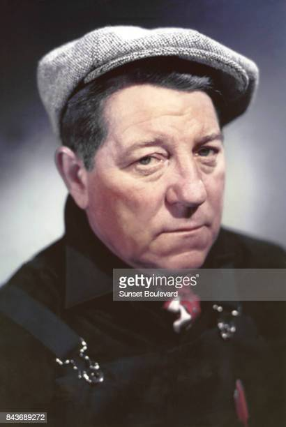 Jean Gabin on the set of Gas-oil directed by Gilles Grangier.