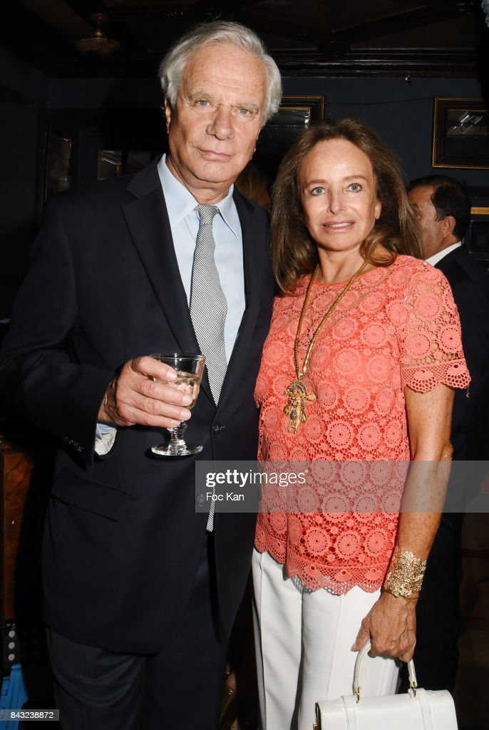 Jean Gabriel Mitterrand and Eleonore de Larochefoucauld attend The Art De La Matiere AD Interieurs 2017 After Cocktail Dinner at La Perouse on September 5, 2017 in Paris, France.
