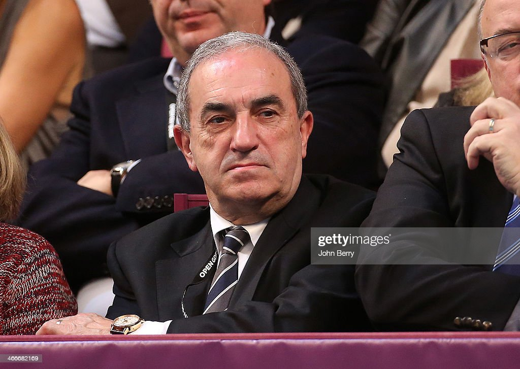 Jean Gachassin, president of the French Tennis Federation attends the final of the 22nd Open GDF Suez held at the Stade de Coubertin on February 2, 2014 in Paris, France.