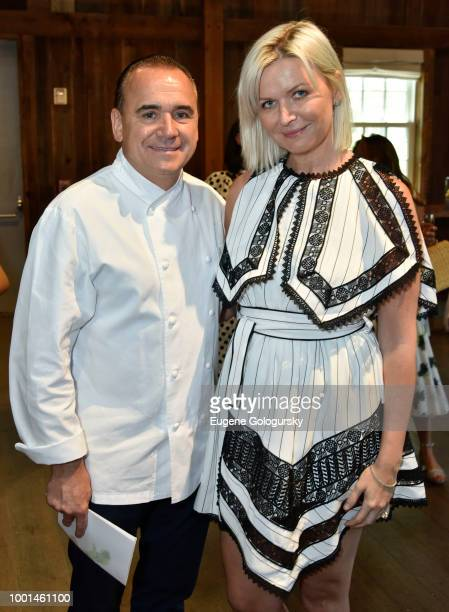 Jean George and Anetta Nowosielska attend the Hamptons Magazine London Jewelers Host A Luxury Shopping Afternoon at Topping Rose House on July 18...