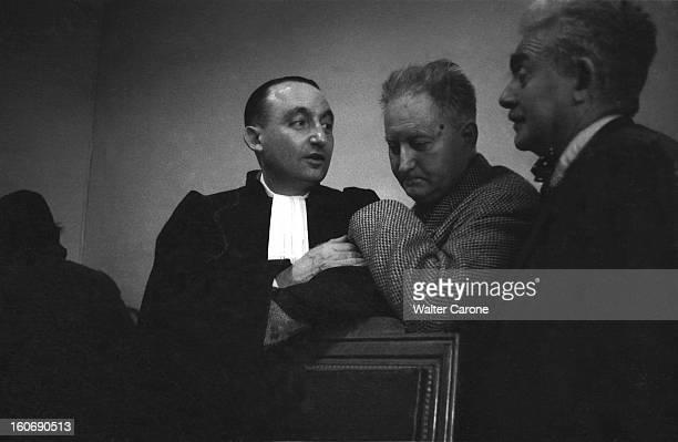 Jean Giono At The Dominici Trial Jean GIONO entre maître DELORME et Maximilien VOX