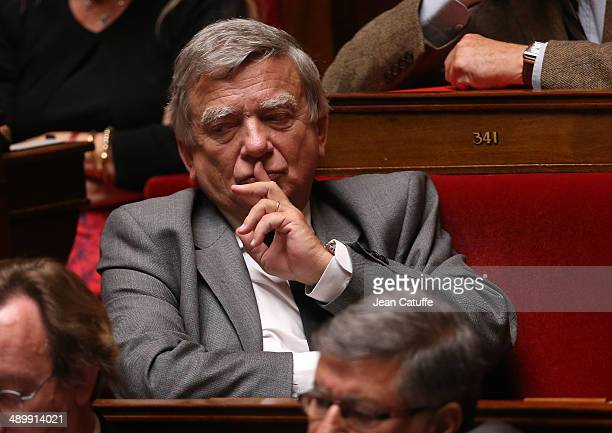 Jean Glavany participates at the Questions to the Government at the French National Assembly on May 7 2014 in Paris France