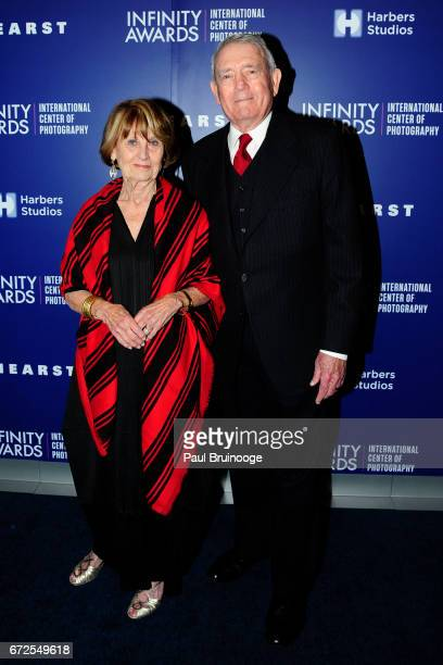 Jean Goebel and Dan Rather attend International Center of Photography 33rd Annual Infinity Awards at Pier Sixty at Chelsea Piers on April 24 2017 in...
