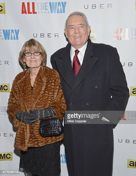 MARCH 06 Jean Goebel and husband/journalist Dan Rather attend All The Way opening night at Neil Simon Theatre on March 6 2014 in New York City