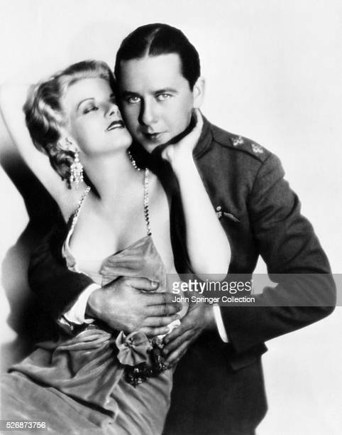 Jean Harlow and Ben Lyon in a promotional photo for the movie Hell's Angels The 1930 film launched Harlow as a Hollywood bombshell
