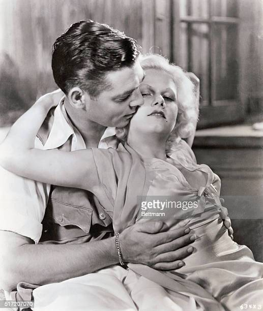 Jean Harlow and Clark Gable in MGM's 1932 romantic drama Red Dust, directed by Victor Fleming.