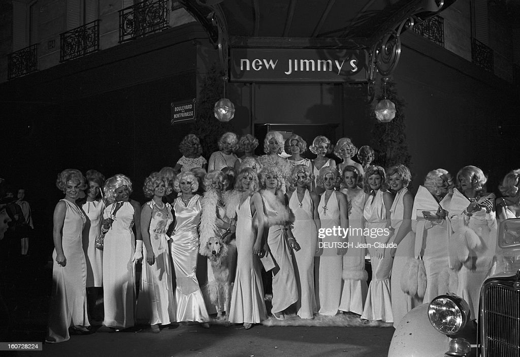 Jean Harlow Evening At Regine At The New Jimmy's : Photo d'actualité