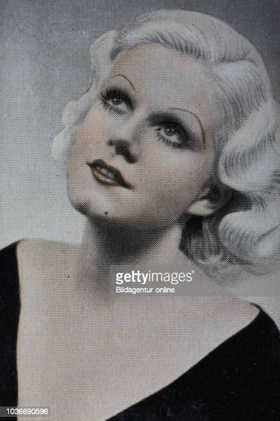 'Jean Harlow was an American film actress and sex symbol' digital improved reproduction of an historical image