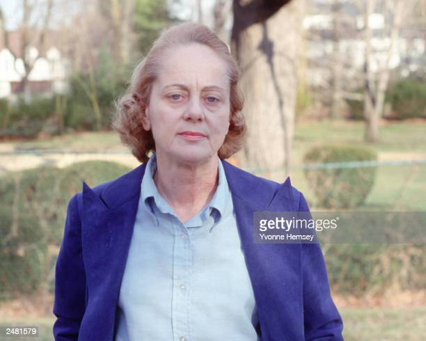Jean Harris poses for a portrait February 28 hours before being found guilty of murdering her lover Scarsdale diet doctor Dr Herman Tarnower