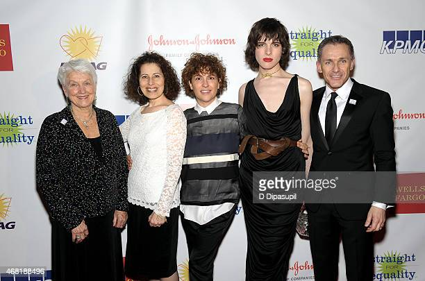 Jean Hodges Leslea Newman Jill Soloway Hari Nef and Jody M Huckaby attend the 7th Annual PFLAG National Straight For Equality Awards Gala at The New...