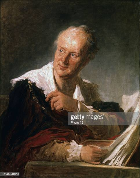 Jean Honore Fragonard French School Portrait of Denis Diderot 18th century Oil on canvas Paris musee du Louvre