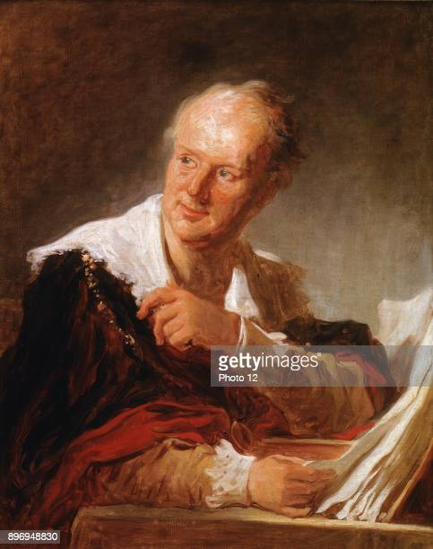 Jean Honore Fragonard French School Portrait of Denis Diderot 18th century Oil on canvas Photo12/Universal Images Group via Getty Images