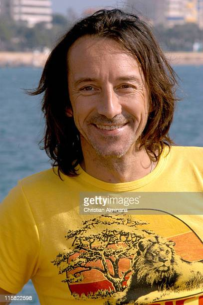 "Jean Hugues Anglade during 2004 MIPCOM - ""Under the Dark Sun of Africa"" - Photo Call at Majestic Hotel Jetty in Cannes, France."