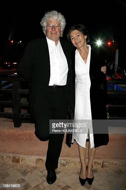 Jean Jacques Annaud and his wife Laurence at 'Inauguration of the Palace Naoura Barriere in Marrakech Morocco on March 07th 2009