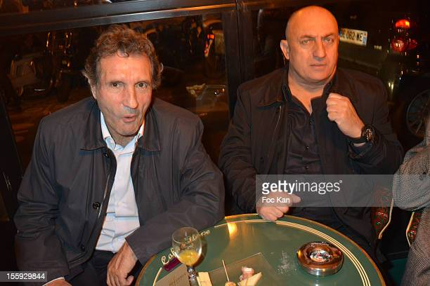 Jean Jacques Bourdin and Bruno Mangel attend the 'Prix De Flore 2012' Literary Award Ceremony Party at the Cafe de Flore on November 8 2012 in Paris...