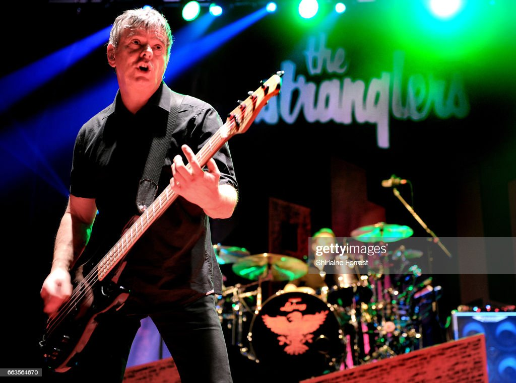 Jean Jacques Burnel and Jim MacAulay of The Stranglers perform at O2 Apollo Manchester on April 1, 2017 in Manchester, United Kingdom.