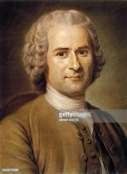 Jean Jacques Rousseau *2806171202071778 Writer philosopher France portrait pastel painting by Quentin de la Tour 18th century