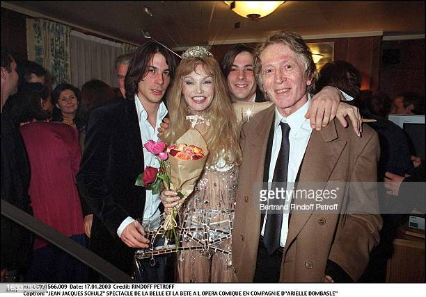 Jean Jacques Schulz play of Beauty and the Beast at the Comic opera of Paris along with Arielle Dombasle