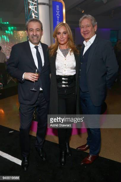 Jean Jacques Sebbag Sonja Morgan and Anthony Castelli attend Swarovskis Times Square Celebration at Hudson Mercantile honoring the brands most recent...
