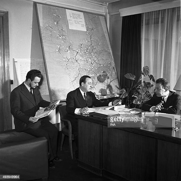 Jean Jose MARCHAND leader of the service of the average outsides and the cinema in the television Paul Mallet the administrator and Albert Ollivier...