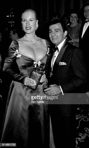 Jean Kasem and Casey Kasem attend Ellis Island Medals of Honor Awards Gala on December 9 1990 at the Waldorf Hotel in New York City
