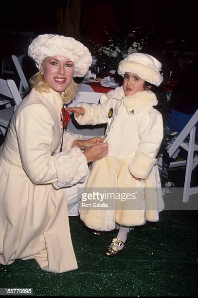Jean Kasem and daughter Liberty Kasem attend 63rd Annual Hollywood Christmas Parade on November 27 1994 at KTLA Studios in Los Angeles California