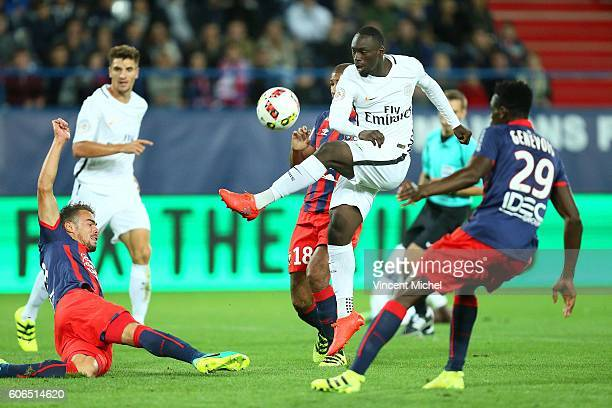 Jean Kevin Augustin of Paris Saint Germain during the Ligue 1 match between SM Caen and Paris Saint Germain at Stade Michel D'Ornano on September 16...