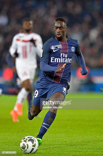 Jean Kevin Augustin of Paris SaintGermain runs with the ball during the French League Cup match between Paris SaintGermain and Lille LOSC on December...