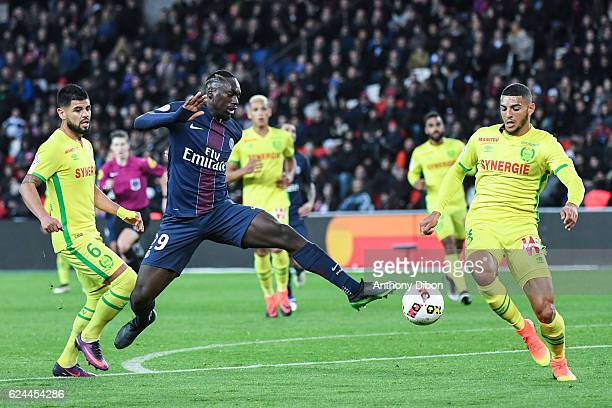Jean Kevin Augustin of PSG and Diego Carlos of Nantes during the Ligue 1 match between Paris Saint Germain PSG and Fc Nantes at Parc des Princes on...