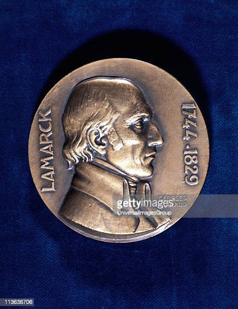 Jean Lamarck French naturalist 'Transformism' theory of evolution Obverse of commemorative medal