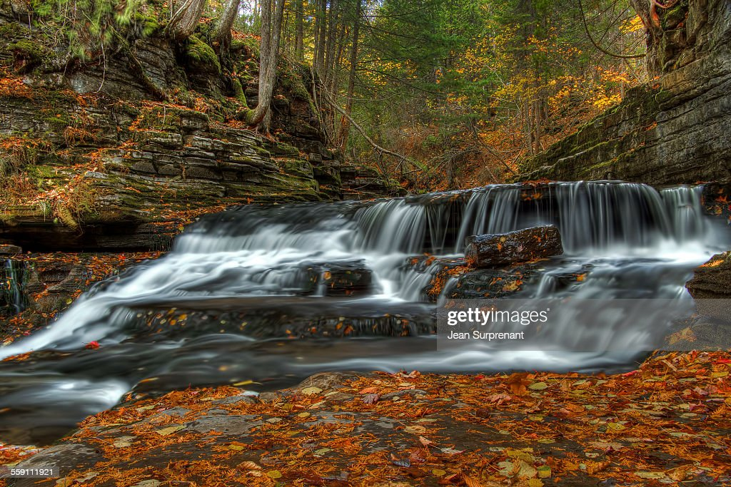 Jean Larose's waterfall : Stock Photo