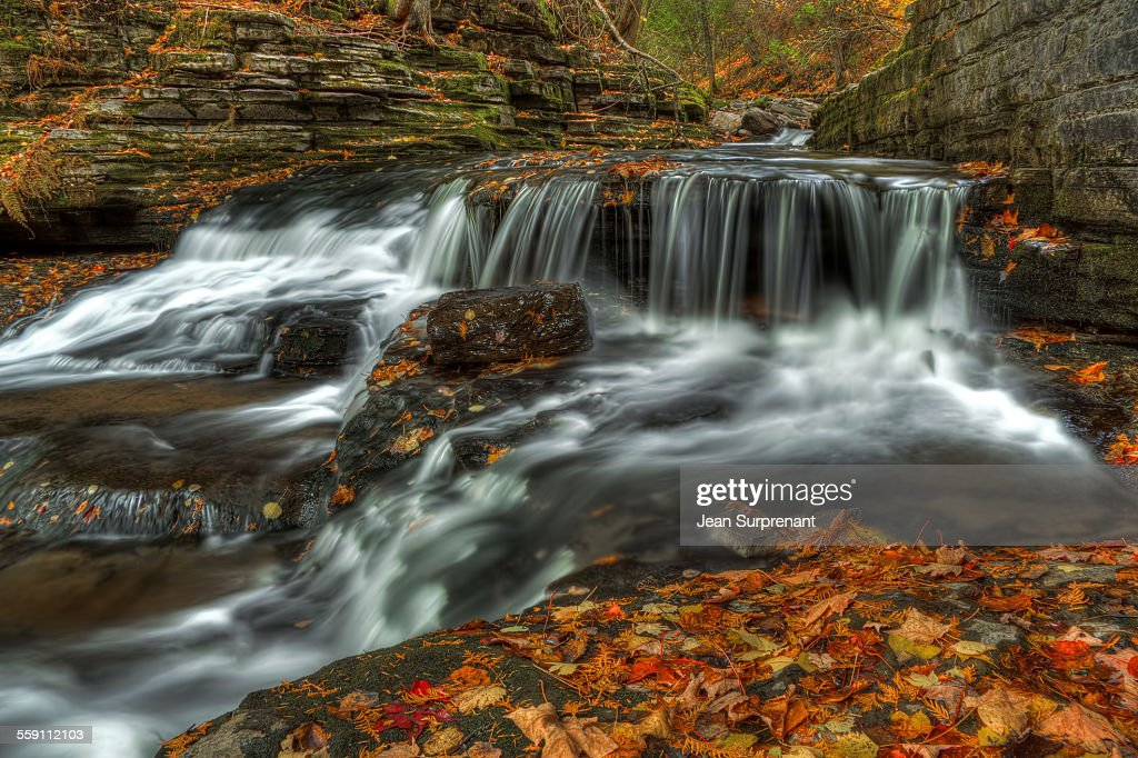 Jean Larose's waterfall : Stock Photo
