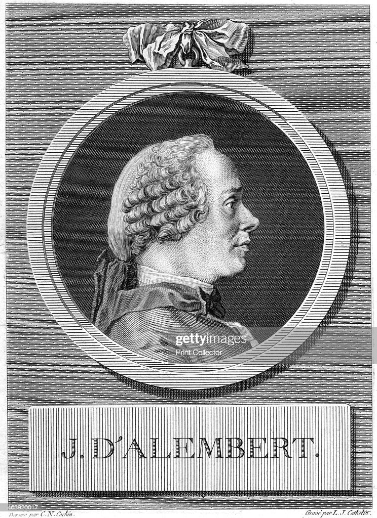 Jean le Rond d'Alembert, French philosopher and mathematician, late 18th century. Artist: Louis Jacques Cathelin : News Photo