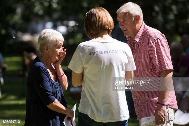 Jean Leadbeater and Gordon Leadbeater the parents of murdered Member of Parliament Jo Cox attend a 'Great Get Together' community service and picnic...