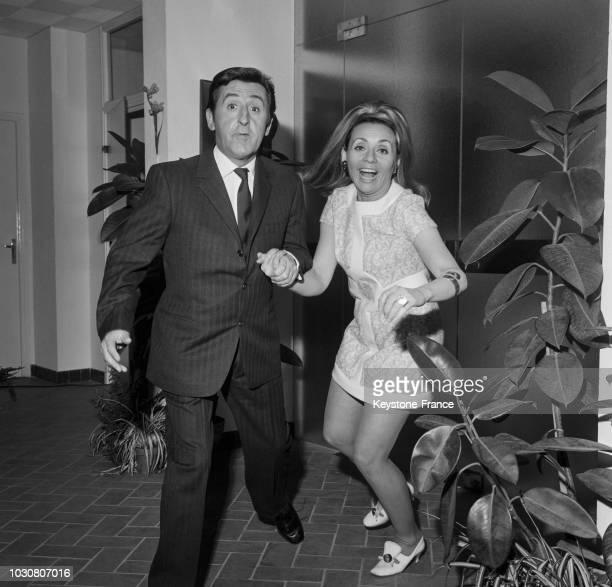 Jean Lefebvre et Annie Cordy réunis pour le film 'Le Bourgeois Gentilhomme Mec' en janvier 1969 en France