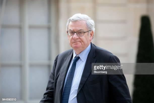 Jean Lemierre chairman of BNP Paribas SA arrives at the Elysee Palace ahead of a dinner with Mohammed bin Salman Saudi Arabia's crown prince in Paris...